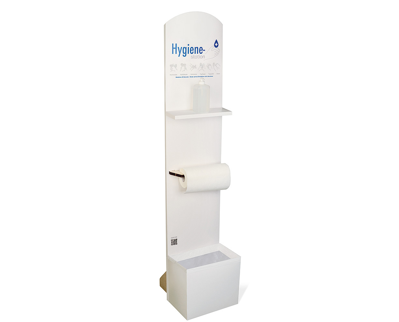 Disinfection floor stand